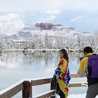 Snowfall in Lhasa in early spring