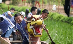 Dragon boat racing held in Shenbei New Area, Liaoning