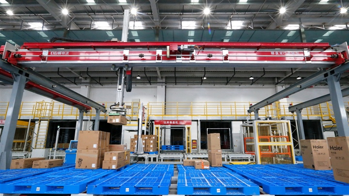 Intelligent warehouse put into service in Shandong